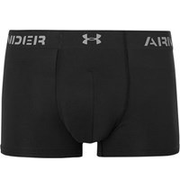 Under Armour Armourvent Stretch Mesh Boxer Briefs Black