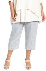 Eileen Fisher Plus Size Women's Organic Handkerchief Linen Crop Pants