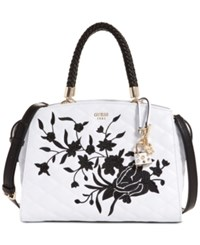 Guess Heather Medium Satchel White Multi