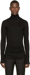 Balmain Black Ribbed Turtleneck