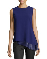 Reed Krakoff Layered Sleeveless Blouse Cobalt