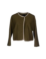 Pinko Black Blazers Military Green