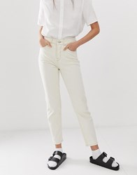 Selected Femme Ecru Mom Jeans White