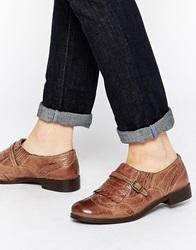 Ravel Kiltie Buckle Leather Flat Shoes Tanleather