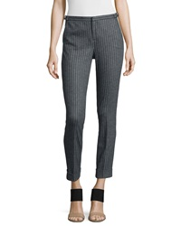 Atm Adjustable Pinstripe Cropped Dress Pants