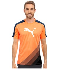 Puma It Evotrg Cat Graphic Tee Orange Pop Blue Wing Teal Men's Short Sleeve Pullover
