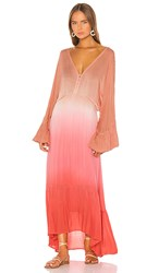 Young Fabulous And Broke Lyla Dress In Pink. Hot Pink Ombre