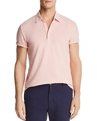 Bloomingdale's The Men's Store At Heathered Short Sleeve Polo Shirt Silver Pink