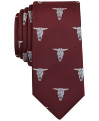 Bar Iii Men's Western Graphic Print Tie Only At Macy's Burgundy