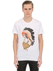 Siamoises Indian Printed Cotton T Shirt White