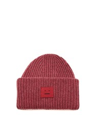 Acne Studios Pansy Wool Hat Pink
