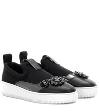 Mcq By Alexander Mcqueen Embellished Slip On Sneakers Black