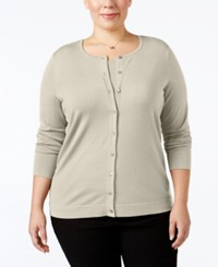 August Silk Plus Size Blend Cardigan Ash Blonde