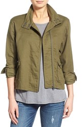 Junior Women's Sun And Shadow Zip Front Cotton Jacket