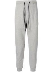 Bassike Drawstring Track Trousers Grey