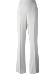 Blugirl Wide Leg Crepe Trousers Trousers Grey