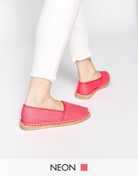 Pieces Haisha Mesh Neon Fuschia Espadrille Flat Shoes Neonfuschia
