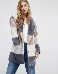 Lovers Friends Patchwork Coat Tan Multi