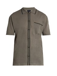 Lanvin Wool And Silk Blend Bowling Shirt Grey