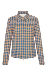 Marni Checkered Fitted Jacket Blue