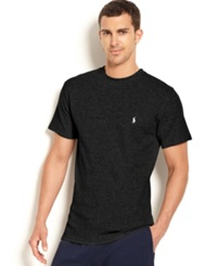 Polo Ralph Lauren Waffle Knit Thermal Crew Neck T Shirt Polo Black