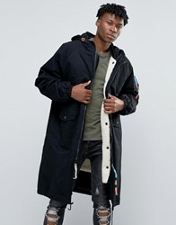 The New County Longline Parka With Borg Lining Black