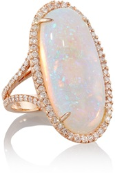 Kimberly Mcdonald 18 Karat Rose Gold Crystal Opal And Diamond Ring