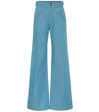 Marc Jacobs Wide Leg Flared Jeans Blue