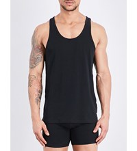 Calvin Klein Pack Of Two Stretch Cotton Tank Tops Black