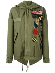 Mr And Mrs Italy Multipatched Short Parka Green