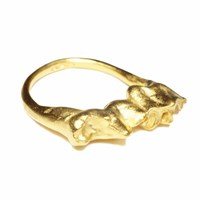Kate Gilliland The Fox And Ram Tooth Ring Gold