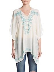 Cara Embroidered Tunic Top Mint