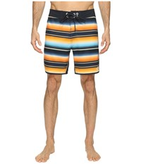 The North Face Whitecap Boardshorts Short Exuberance Orange Serape Print Men's Swimwear Multi