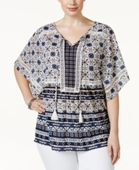 Styleandco. Style And Co. Plus Size Printed Peasant Tunic Top Only At Macy's