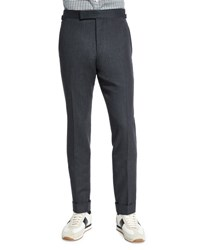Tom Ford O'connor Base Flannel Tailored Trousers Charcoal