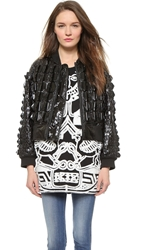 Ktz Bomber Jacket With Raised Scales