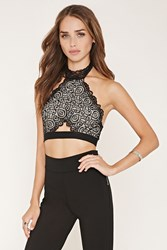 Forever 21 Lace Halter Crop Top