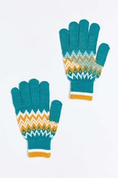 Urban Outfitters Fair Isle Touchscreen Glove Green