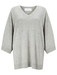 Collection Weekend By John Lewis Cashmere Blend Poncho Grey Marl