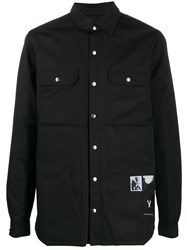 Rick Owens Drkshdw Single Breasted Fitted Jacket Black
