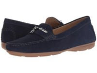 Hush Puppies Renita Charm Royal Navy Nubuck Slip On Shoes Blue