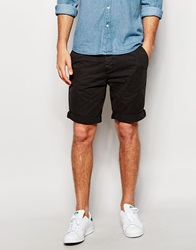 New Look Chino Shorts Black