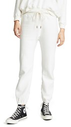The Great Great. Warm Up Sweatpants Washed White Sherpa