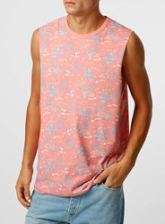 Topman Red Christmas Surf Tank