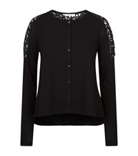 Dorothee Schumacher City Spin Lace Panel Cardigan Female Black