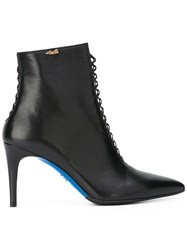 Loriblu Lace Up Detailing Ankle Boots Black