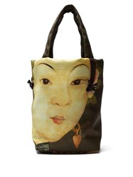 Simone Rocha Lady Print Embellished Tote Bag Green Multi