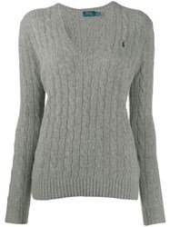 Polo Ralph Lauren Classic Cable Knit Jumper Grey