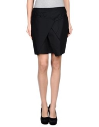 Malloni Knee Length Skirts Black