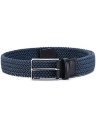 Ermenegildo Zegna Woven Belt Men Cotton 95 Blue
